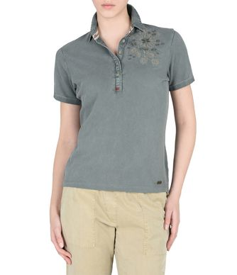 NAPAPIJRI ENMORE WOMAN SHORT SLEEVE POLO,MILITARY GREEN