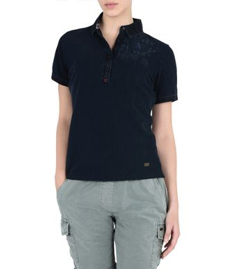 NAPAPIJRI ENMORE WOMAN SHORT SLEEVE POLO,DARK BLUE