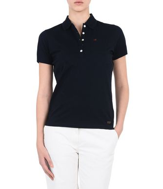 NAPAPIJRI ESTELI WOMAN SHORT SLEEVE POLO,DARK BLUE