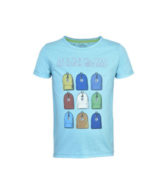 NAPAPIJRI K SMARTY JUNIOR KID SHORT SLEEVE T-SHIRT,CARIBBEAN BLUE