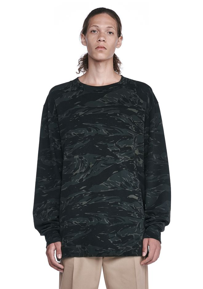 T by ALEXANDER WANG TOPS Men CAMO HIGH NECK LONG SLEEVE