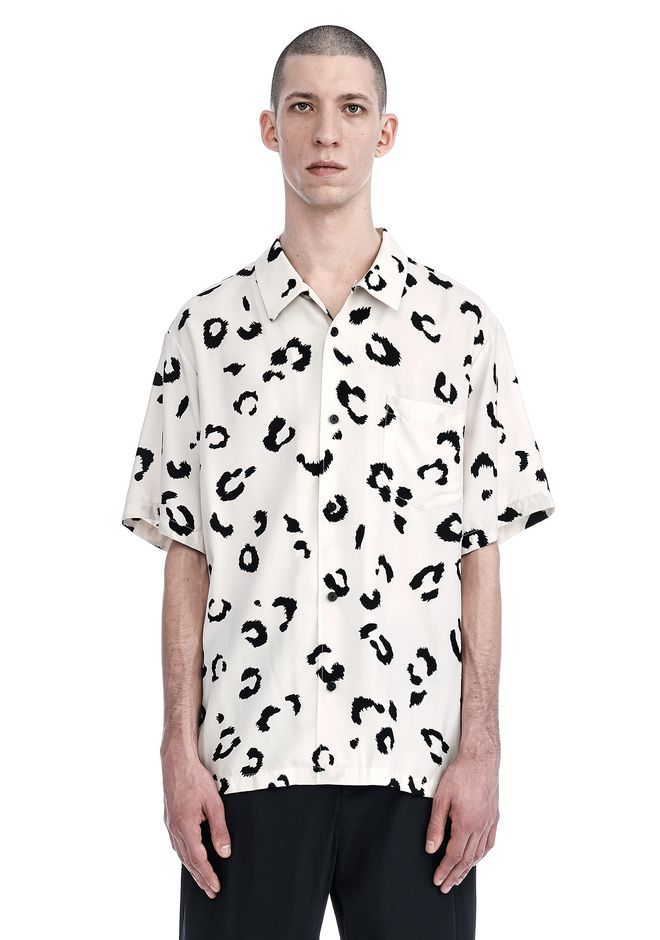 ALEXANDER WANG mens-new-apparel LEOPARD PRINTED SILK SHIRT