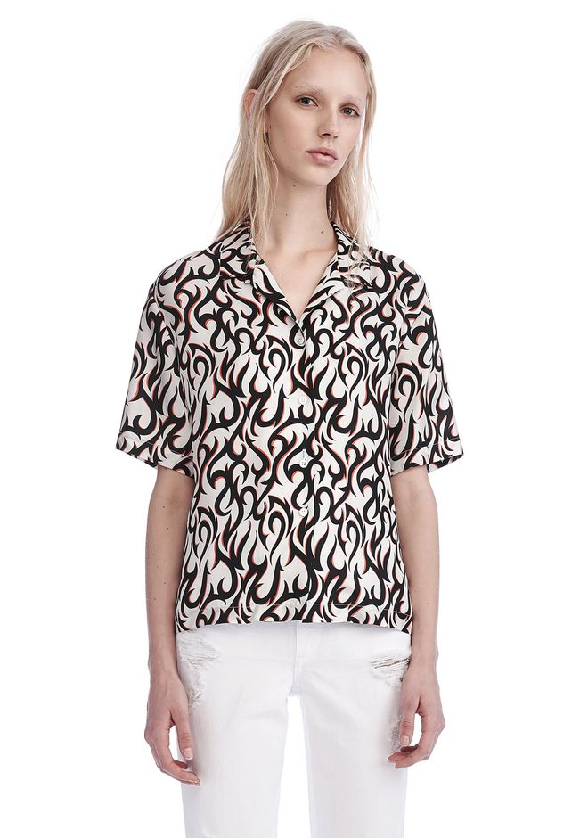 ALEXANDER WANG new-arrivals-ready-to-wear-woman SILK HAWAIIAN SHIRT