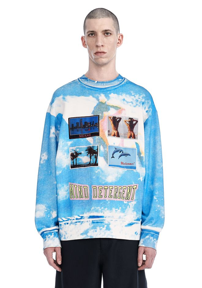 ALEXANDER WANG ready-to-wear-sale POSTCARD PRINT PULLOVER