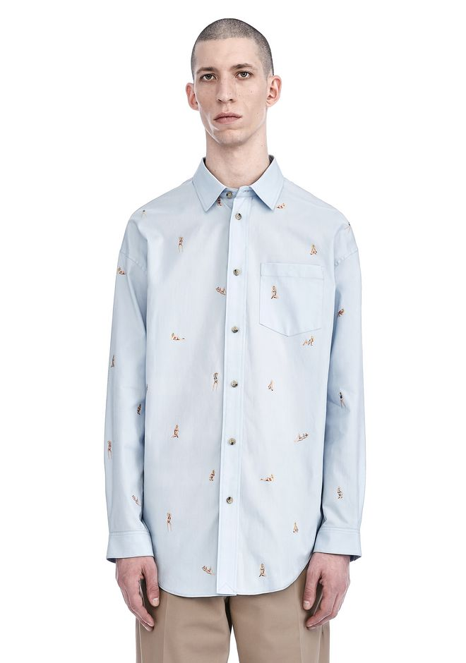 ALEXANDER WANG nwvmens-apparel BEACH BABES JACQUARD OXFORD SHIRT