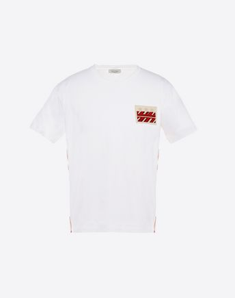 VALENTINO T-SHIRT WITH SELVAGE DETAIL 37993184OW