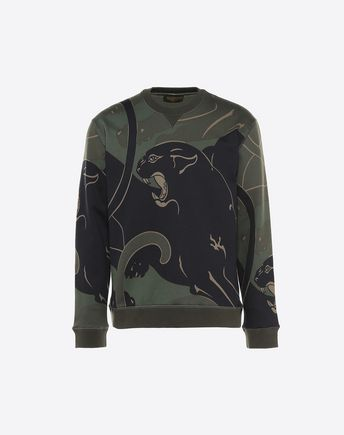 VALENTINO ALL-OVER PANTHER PRINT SWEATSHIRT 37994640PH