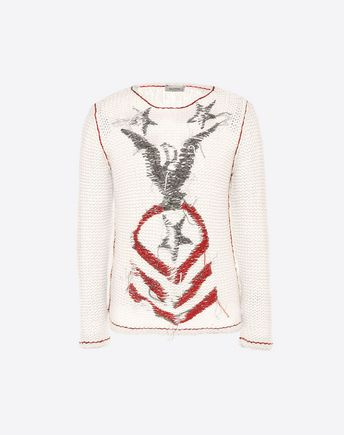 VALENTINO JUMPER WITH PENNANT EMBROIDERY 37994837FC