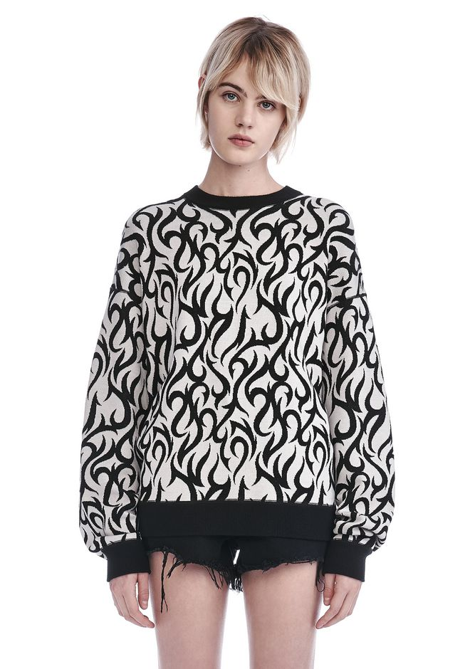 ALEXANDER WANG new-arrivals TATTOO PRINT LONG SLEEVE SWEATSHIRT