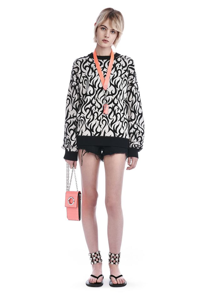 ALEXANDER WANG TOPS TATTOO PRINT LONG SLEEVE SWEATSHIRT