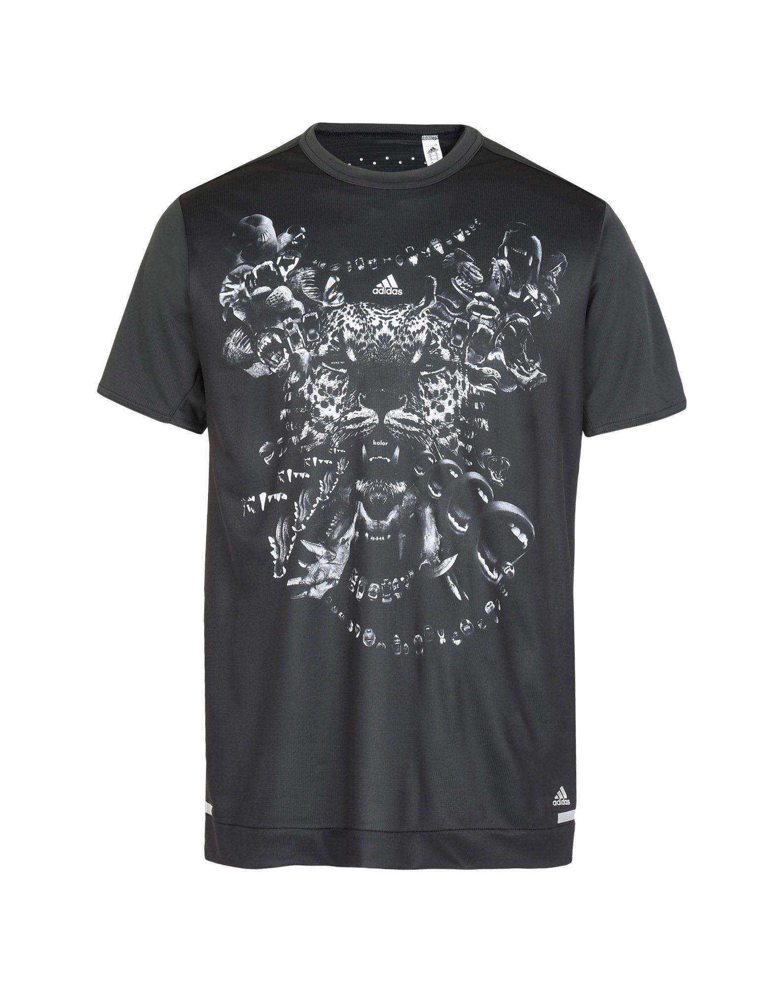 Black t shirt for man - Kolor Grapchic Tee 1 Tees Polos Man Y 3 Adidas