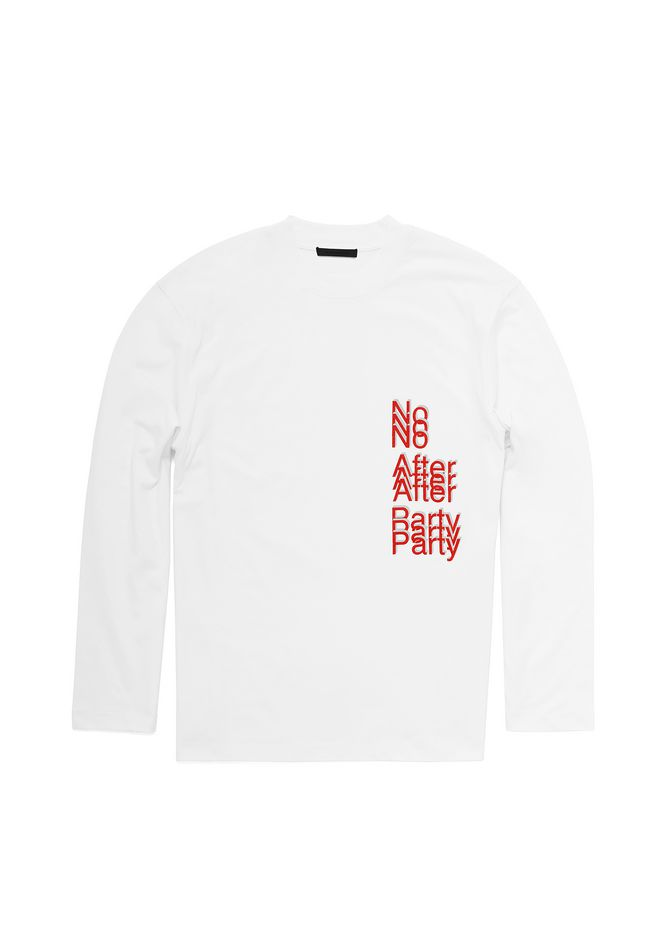 ALEXANDER WANG exclusives NO AFTER PARTY LONG SLEEVE T-SHIRT