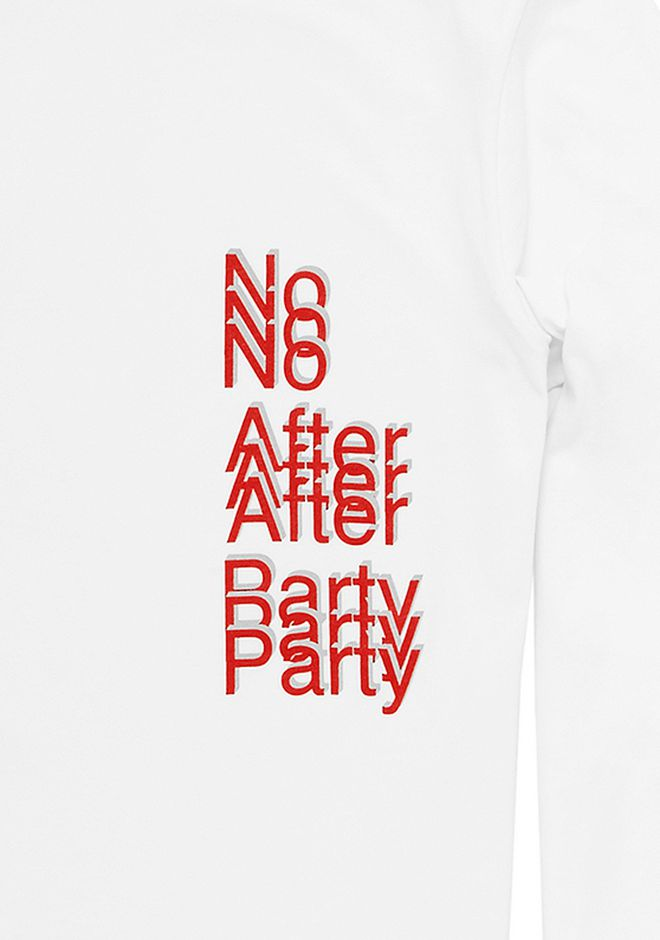 ALEXANDER WANG NO AFTER PARTY LONG SLEEVE T-SHIRT TOP Adult 12_n_f
