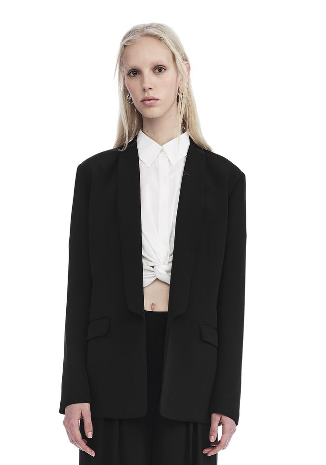 T by ALEXANDER WANG TOPS DRAPE SHAWL COLLAR BLAZER