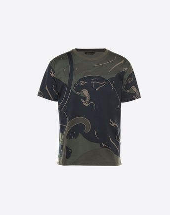 VALENTINO T-SHIRT WITH ALL-OVER PANTHER PRINT 37999296TX