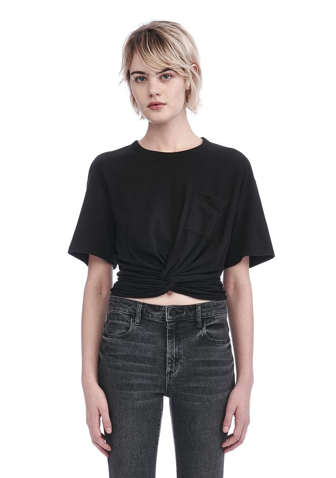 T by ALEXANDER WANG t-shirts FRONT TWIST SHORT SLEEVE TEE