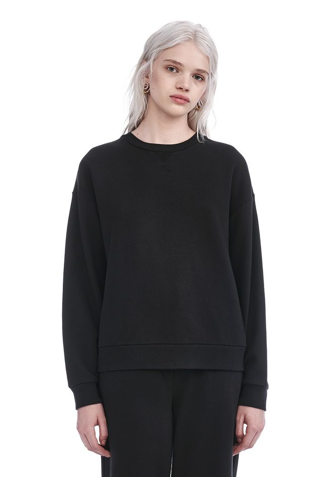 T by ALEXANDER WANG TOPS Women FRENCH TERRY SWEATSHIRT