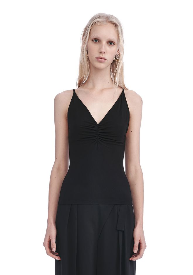 T by ALEXANDER WANG TOPS Women MODAL SHIRRED FRONT CAMISOLE