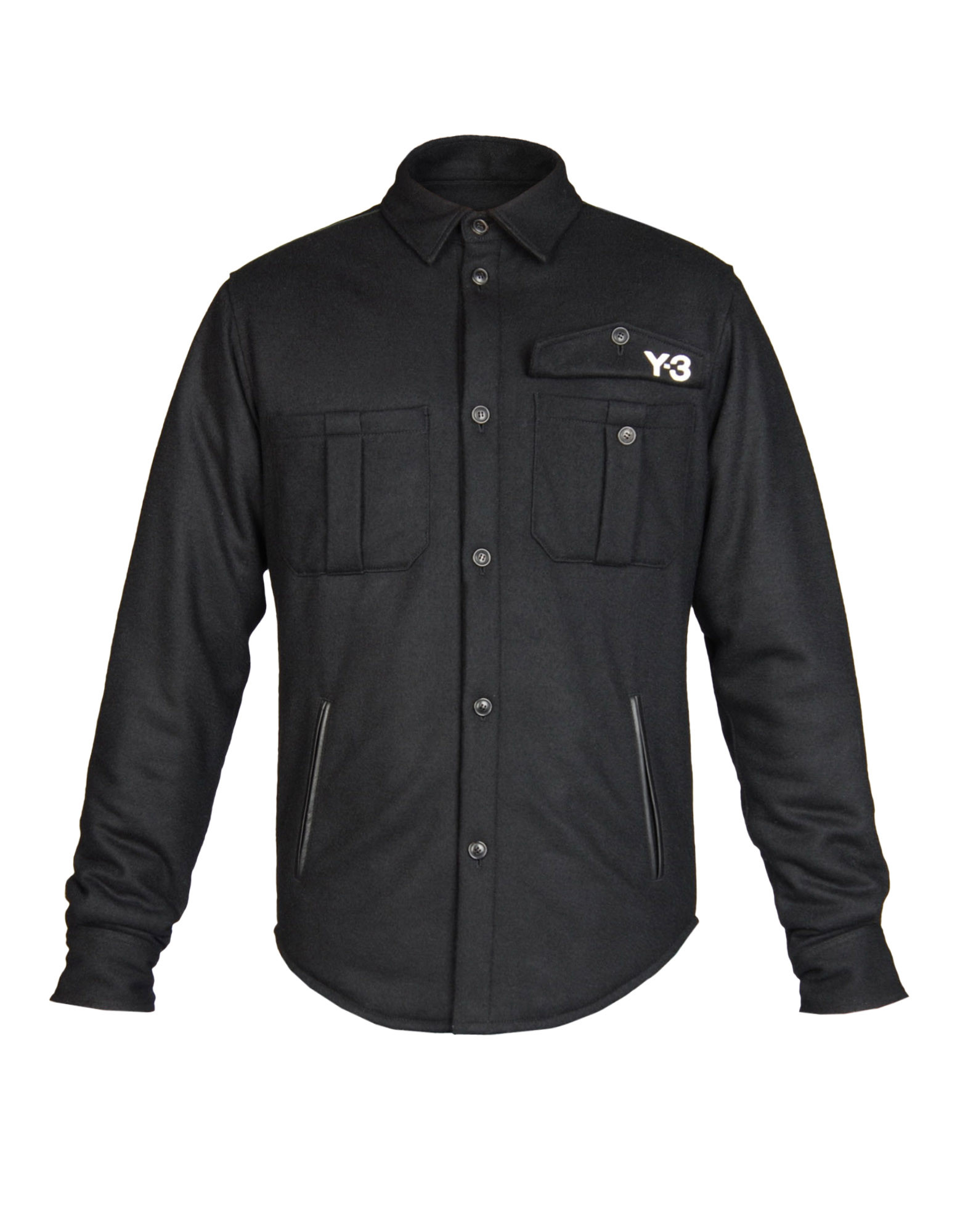 fc82587c9 ... Y-3 Y-3 Flannel Overshirt Long sleeve shirt Man f ...