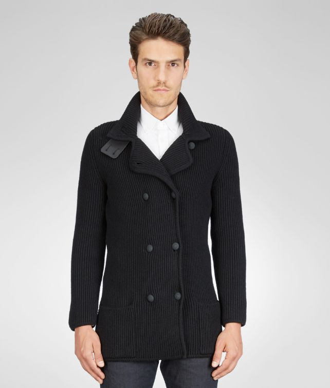BOTTEGA VENETA Wool Nappa Detail Cardigan Tops, tees and shirts U fp