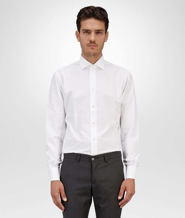 BOTTEGA VENETA SHIRT IN BIANCO COTTON Formalwear or shirt Man fp