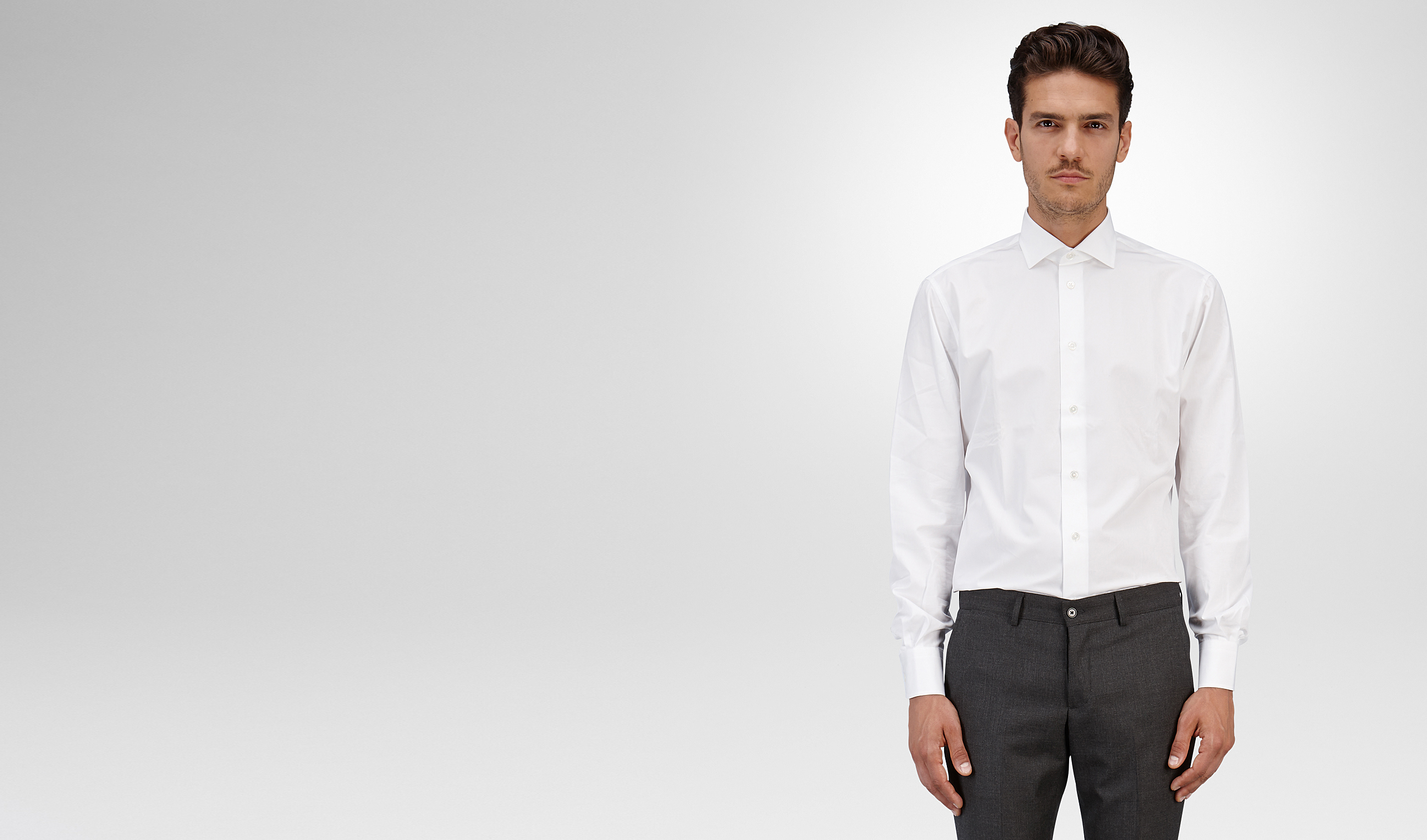 BOTTEGA VENETA Formalwear or shirt U SHIRT IN BIANCO COTTON pl