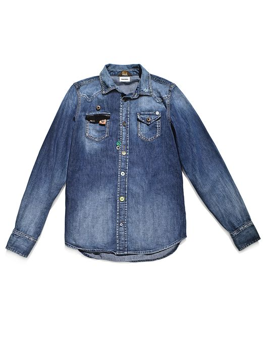 DIESEL REBOOT-DENIM-SHIRT Shirts U e