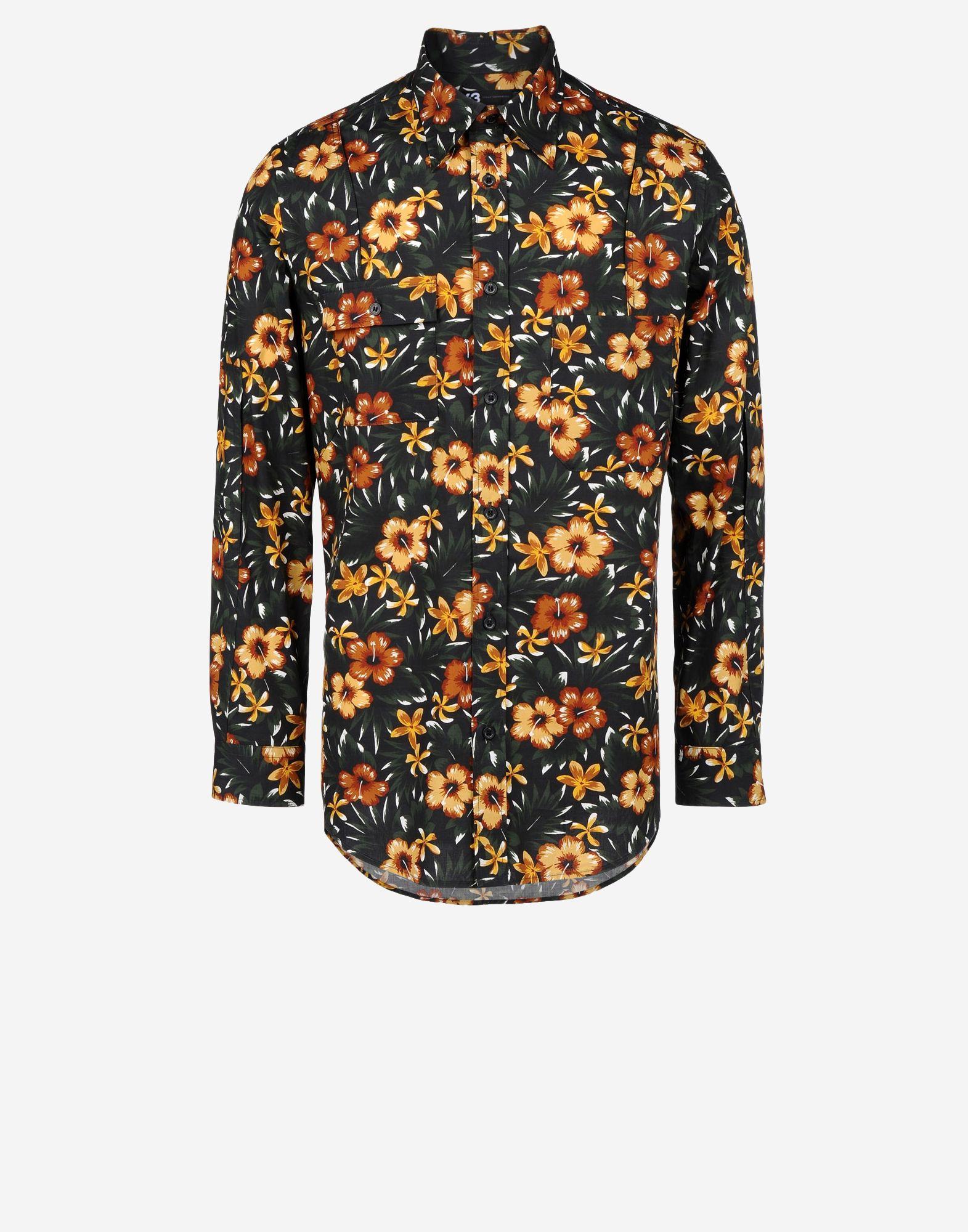 37d72797229e ... Y-3 Y-3 Aloha Print Shirt Long sleeve shirt Man f ...