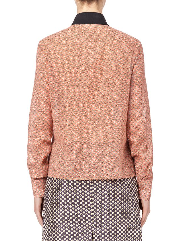 Marni Shirt in cotton voile Blossom Tree print Woman