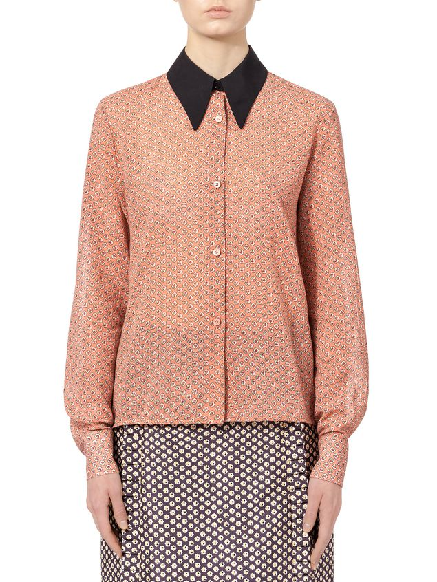 Marni Shirt in cotton voile Blossom Tree print Woman - 1