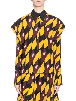Marni Blouse in double face crepe Hortus print Woman