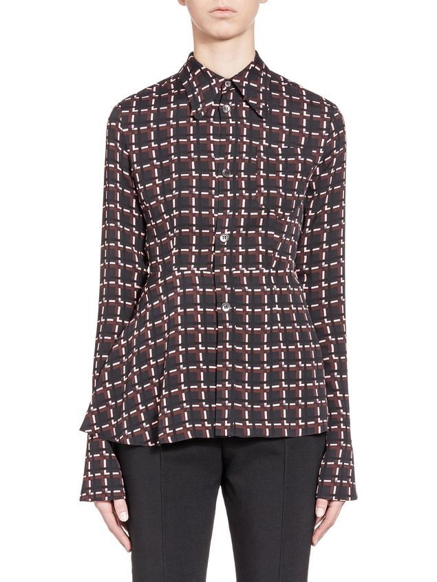 c55deeabf Blouse In Sablé Viscose Window Print from the Marni Spring/Summer ...