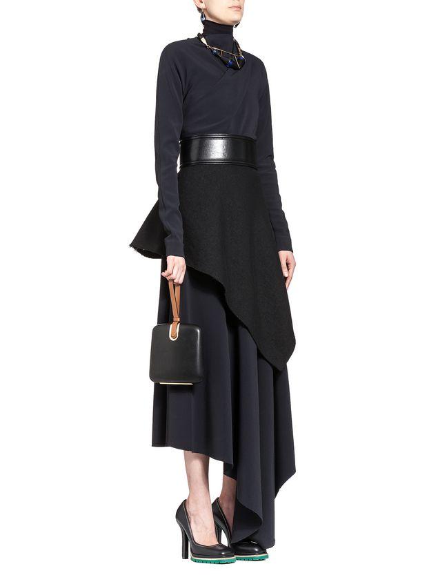 Marni Runway asymmetric shirt in stretch cady Woman - 4