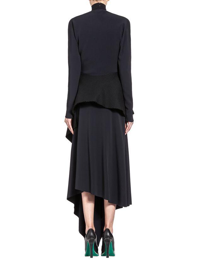 Marni Runway asymmetric shirt in stretch cady Woman - 3