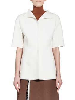 Marni Runway shirt in washed bonded wool Woman