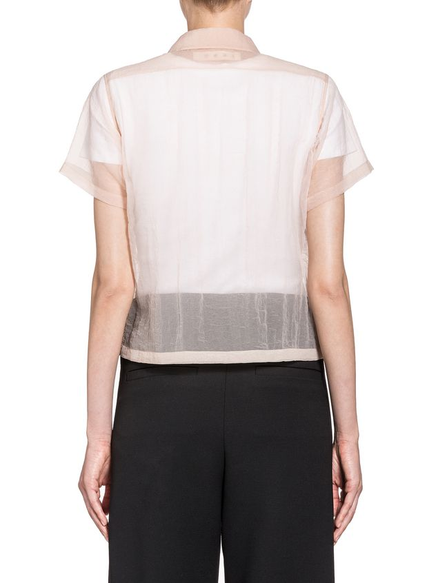 Marni Boxy blouse in seersucker nylon Woman