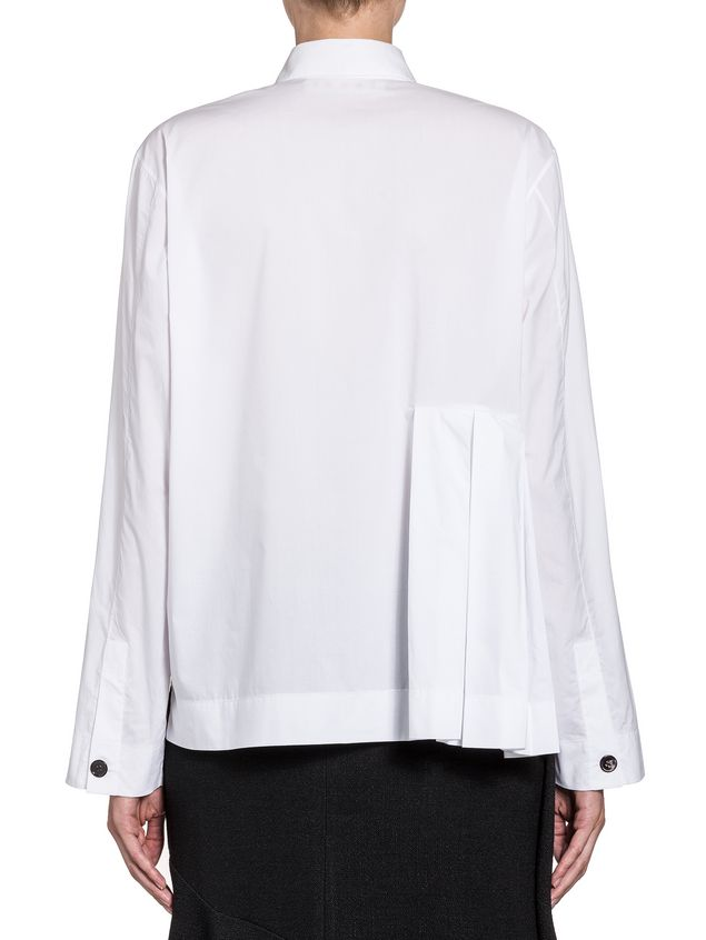 Marni Pleated blouse in poplin coloured buttons Woman