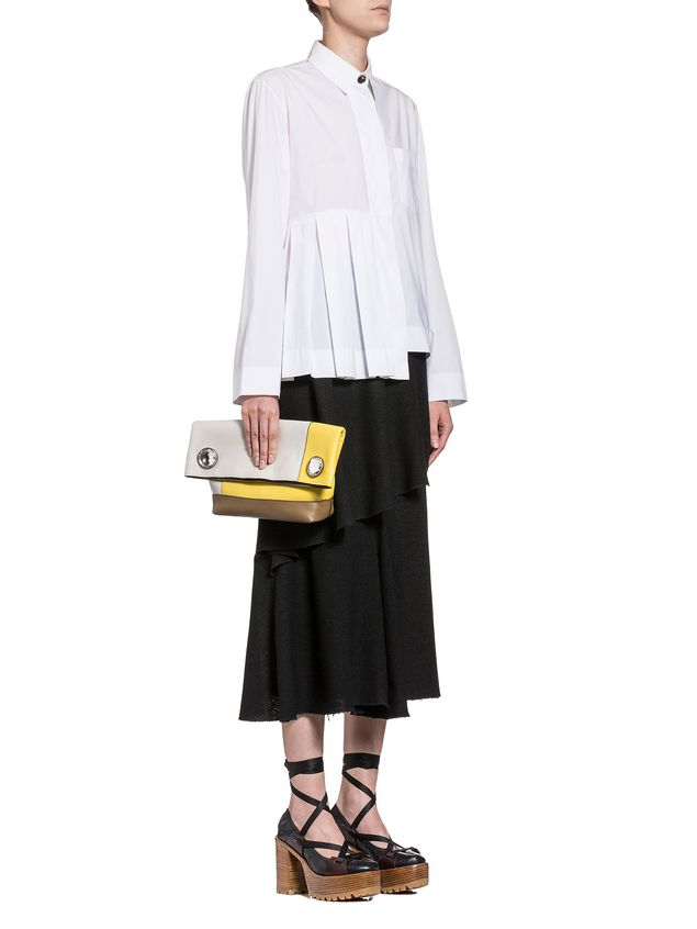 Marni Pleated blouse in poplin coloured buttons Woman - 4