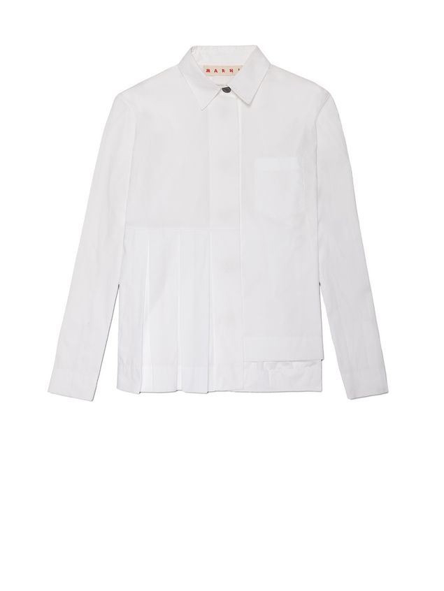 Marni Pleated blouse in poplin coloured buttons Woman - 2