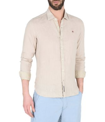 NAPAPIJRI GERVAS MAN LONG SLEEVE SHIRT,BEIGE