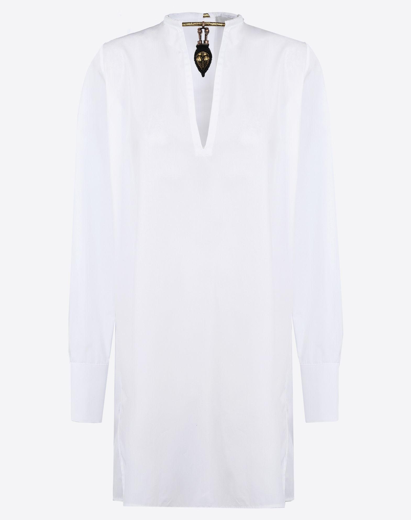VALENTINO Plain weave Solid color V-neckline Dual cuffs Hook-and-eye closure Side slit hemline Long sleeves  38506937or