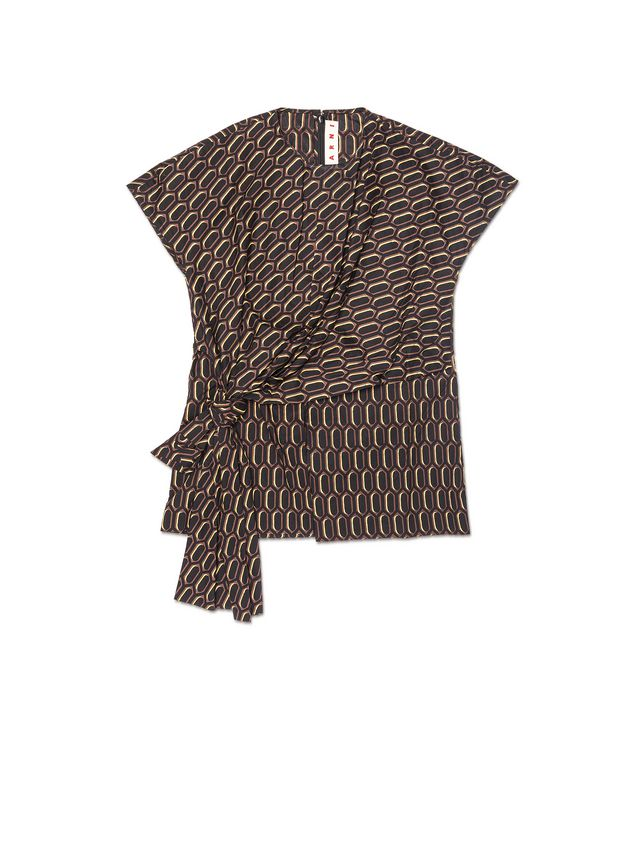 Marni Blouse in poplin Amlapura print Woman - 2