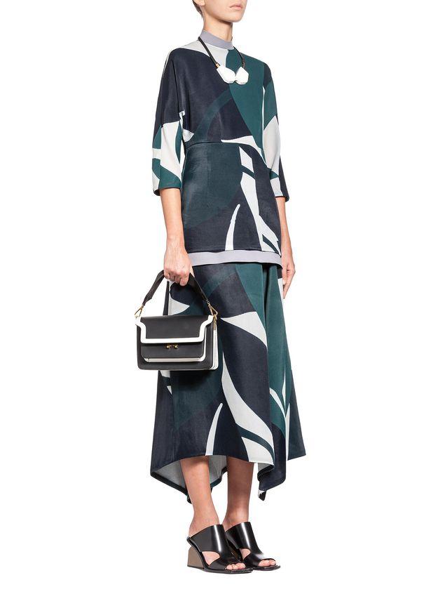 Marni Crewneck blouse in devoré twill with Shadow print Woman - 4