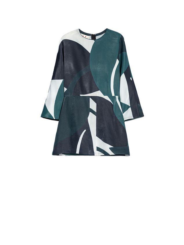 Marni Crewneck blouse in devoré twill with Shadow print Woman - 2