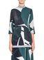 Marni Crewneck blouse in devoré twill with Shadow print Woman - 1
