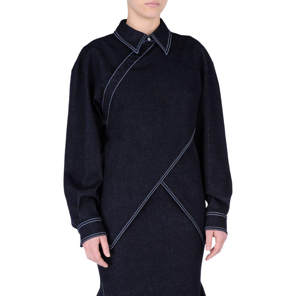 Raw Denim Irene Shirt - STELLA MCCARTNEY