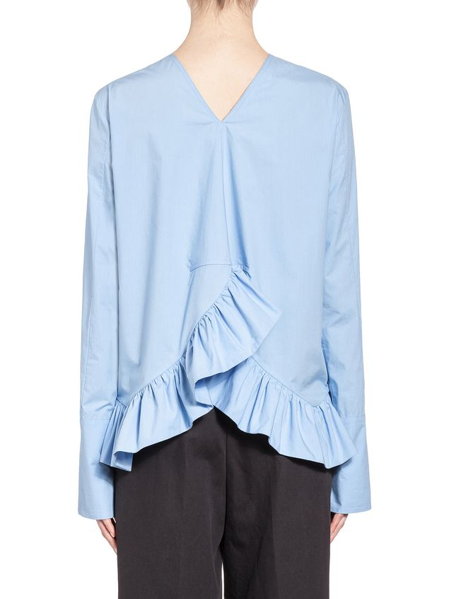 Marni Blouse in crispy cotton with ruffle Woman