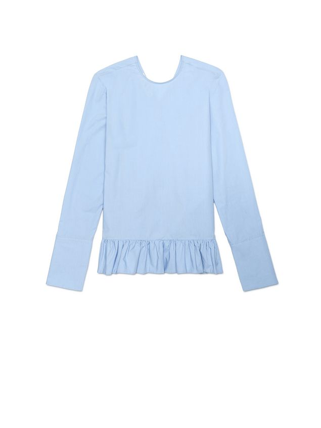 Marni Blouse in crispy cotton with ruffle Woman - 2
