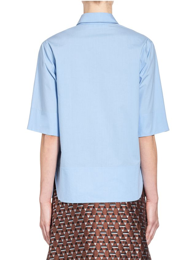 Marni Shirt in crispy cotton with ruffles and slits  Woman