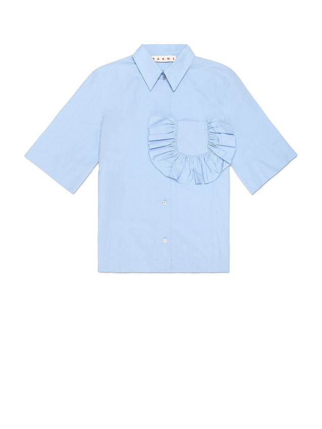 Marni Shirt in crispy cotton with ruffles and slits  Woman - 2